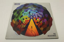 Muse Full Band X3 Signed Autograph Album Vinyl Record - The Resistance Rare
