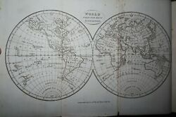 1819 General Gazetteer Geographical Dictionary By Brookes 7 Maps Asia Usa