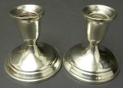 Set Of 2 Towle Sterling Silver Weighted Reinforced Candle Holders 700 - 480g