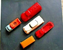 5-vintage O Scale Plastic Cars And Trucks For Train Layout