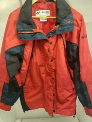 Columbia jacket Womens Size Medium Color Red And Black