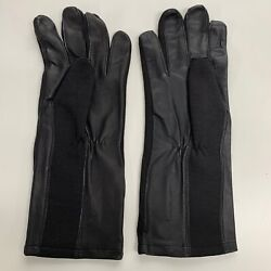 Sas Sbs Black Cloth And Leather Assault Suit Gloves - Size Large British New