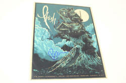 Trey Anastasio Mike Gordon And Page M Signed Autograph Concert Phish Tour Poster