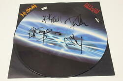 Def Leppard Band X4 Signed Autograph Picture Disc Album Vinyl Record - Real
