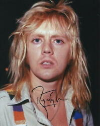 Roger Taylor Signed Autograph 8x10 Photo - Queen Drummer, Very Rare Young Photo