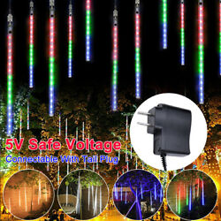 30cm 50cm Led Lights Rain Meteor Shower Tube Snowfall Tree Xmas Outdoor Decorate