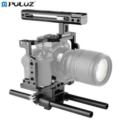 Puluz Camera Cage Housing Stabilizer With Handle And Rail Rod For Nikon Z6 / Z7