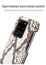 Genuine Python Leather Case For Samsung Galaxy S20 Ultra S20 Snakeskin Cover