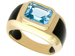 Contemporary French 3.11ct Topaz And 18ct Yellow Gold Dress Ring Circa 2000