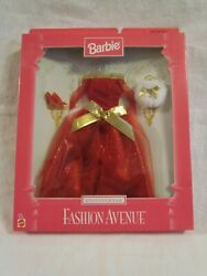 NIB BARBIE RED EVENING WEAR FASHION AVENUE COLLECTION OUTFIT CLOTHING SET $20.99