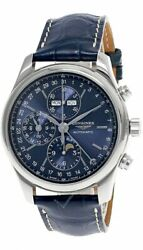 Longines Master Collection Moonphase 42mm Blue Dial Menand039s Watch L2.773.4.92.0