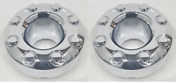2 Oem 2009 F350 Sd Front Chrome Open Center Caps Hubcaps 4x4 4wd 3618