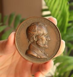 1865 United States - President A. Lincoln Abolition Of Slavery Medal By H. Bovy