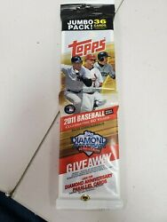 Topps Updates Mlb 2011 Baseball Card Jumbo Pack Of 36 Possible Mike Trout Rookie