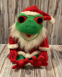Christmas Santa Claus Frog Culture Puppet Plush 24k Company Mighty Star 1996
