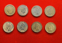 Indian Head Penny, Small Cent, 1890, 1891, 1892, 1893, 1895, 1897, 1898 And 1899