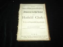 1701 State Of Yorkshire Adjacent To Level Of Hatfield Chase Rare Local History