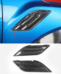 Real Carbon Fiber Car Intake Grille Air Net Door Hood For Ford F150 2017-2020