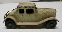 1920and039s Pressed Steel Tin Toy Coupe Car Girard Balloon Antique Automobile