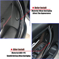 Door Pull Handle Covers Front Left And Right For 328i 335i 428i 435i F32/f36 Black