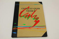 Dale Chihuly Signed Autograph W/ Paint On Book Cover Chihuly Over Venice Red