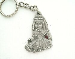 Rawcliffe 1983 Pewter :I Love Dollsquot; Keychain and FOB $5.00