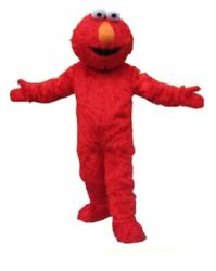 Red Elmo Monster Mascot Costume Cosplay Suit Party Fancy Dress Adult Size