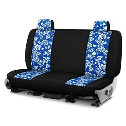 For Ford Courier 72-82 Hawaiian 1st Row Blue W Black Custom Seat Cover