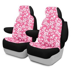 For Ford Courier 72-82 Dash Designs Hawaiian 1st Row Pink Custom Seat Covers