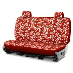 For Ford Courier 72-82 Dash Designs Hawaiian 1st Row Red Custom Seat Cover