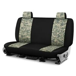 For Ford Courier 72-82 Camo 1st Row Digital Green W Black Custom Seat Covers