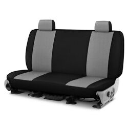 For Ford Courier 72-82 Grandtex 1st Row Pewter W Black Custom Seat Cover