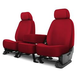 For Ford F-250 92-98 Genuine Neoprene 1st Row Red Custom Seat Covers
