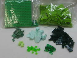 Large Lot Of Unique Pieces In 8 Different Colored Green Lego Pieces Sorted