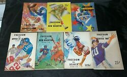 Lot Of 7 1960s Freedom Pa High School Football Programs W/ Coca Cola Advertise