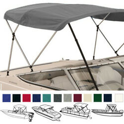 3 Bow Boat Bimini Top Boat Cover Set With Boot And Rear Support Poles 9 Colors