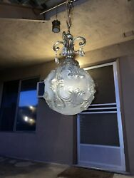 Beautiful Vintage Art Deco Ceiling Lamp From House In Palos Verdes Estates, Ca.
