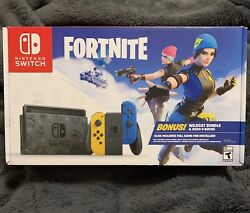 New Nintendo Switch Fortnite Special Edition - Wildcat Bundle W/ Game And V-bucks
