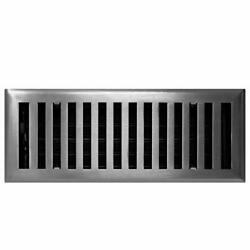 Contemporary Solid Brass 4 X 14 Floor Vent Cover, Oil Rubbed Bronze Overall