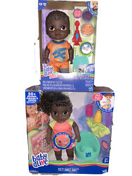 New Hasbro Baby Alive Brother And Sister African American- Potty Dance And Spoonfuls