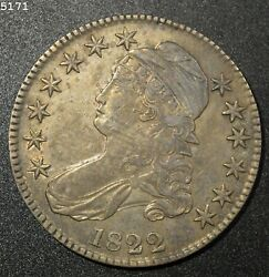 1822 Capped Bust Half Dollar Au+ Free Shipping After First Item