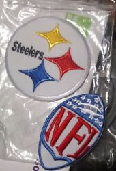 2pcs Pittsburgh Steelers Nfl Patches Embroidered Iron On Patch Fast Us Shipper