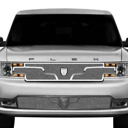 For Ford Flex 13-15 Grille Kit Lexani 1-pc Zurich Style Chrome Mesh Grille Kit W