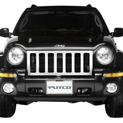 For Jeep Liberty 02-04 1-pc Designer Fx Series Polished Cnc Machined Main Grille