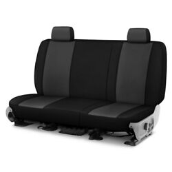 For Chevy S10 82-97 Genuine Neoprene 1st Row Charcoal W Black Custom Seat Cover