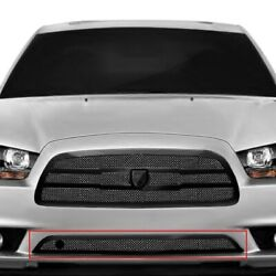 For Dodge Charger 11-14 Bumper Grille Lexani 1-pc Zurich Style Black Mesh Bumper