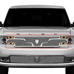 For Ford Flex 13-15 Main Grille Lexani 1-pc Zurich Style Chrome Mesh Main Grille