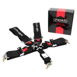 Cipher Auto Cpa4005bk 5-point Camlock Racing Harness Black