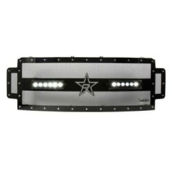 For Ford F-250 Super Duty 17-19 Main Grille 1-pc Rx-3 Led Series Midnight