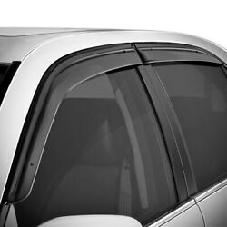 For Chevy Sonic 12-20 Side Window Deflectors Tape-on Smoke Front And Rear Side
